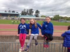 U11 Girls ready for Long Jump